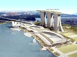 Das Marina Bay Sands Hotel wird 2.600 Zimmer umfassen