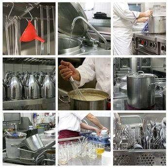 In einer Profiküche muss absolute Sauberkeit gewährleistet werden –  Schmuddelbetriebe könnten bald in ganz Deutschland mit einem negativen  Gastro-Smiley bestraft werden. (Foto: fotolia.com/Esther Hildebrandt