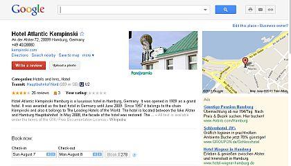 Google Places: Werden nun fremde Hotelbewertungen hier nicht mehr angezeigt? (Beispiel: Hotel Atlantic Kempinski Hamburg)