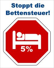 Stoppt die Bettensteuer