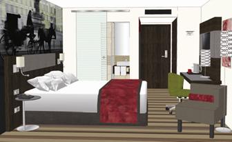 Zimmer im neuen Leonardo Hotel Vienna