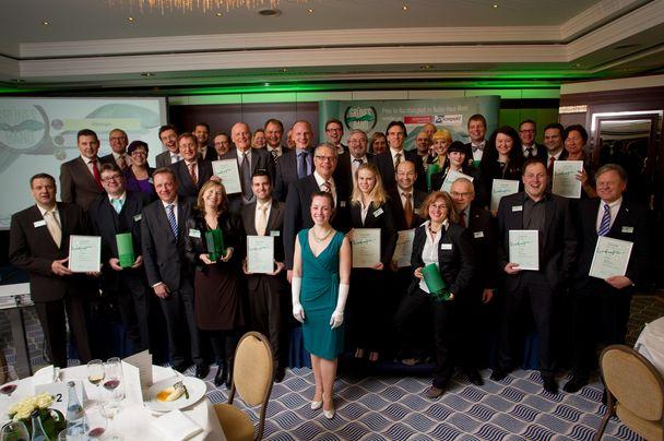 """Alle Preisträger: Das """"Grüne Band - Preis für Nachhaltigkeit im Außer-Haus-Markt"""" soll nun alle zwei Jahre vergeben werden"""