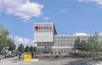Eröffnung ist im Herbst 2013: Ramada und H2 Hotel an der Messe München