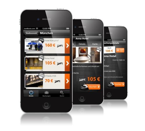 Justbook App für Hotelbuchungen
