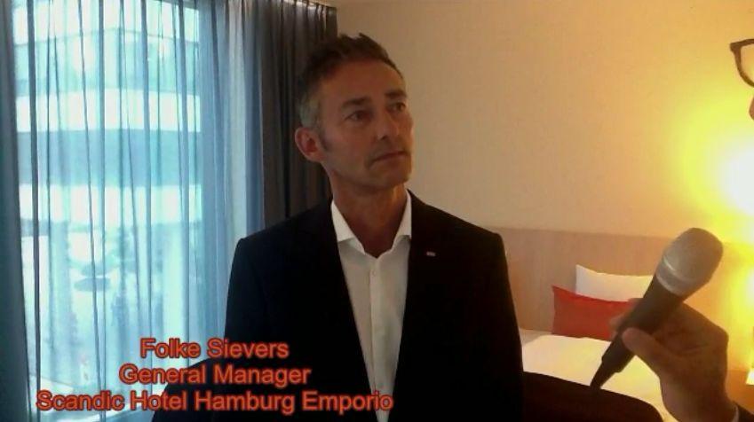 Scandic Hotel Emporio Hamburg wird eröffnet: General Manager Folke Sievers im Interview mit HOTELIER TV