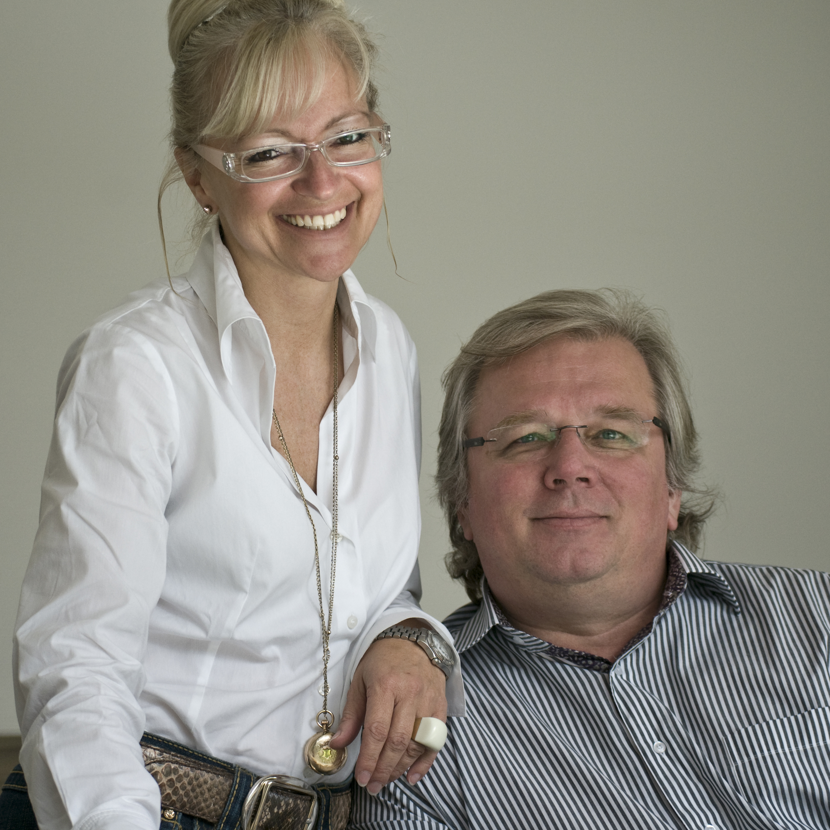 Corinna Kretschmar-Joehnk und Peter Joehnk, Inhaber des international renommierten Innenarchitektenbüros JOI-Design