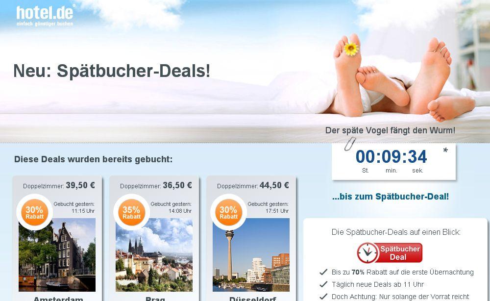 hotel.de Spätbucher Deals
