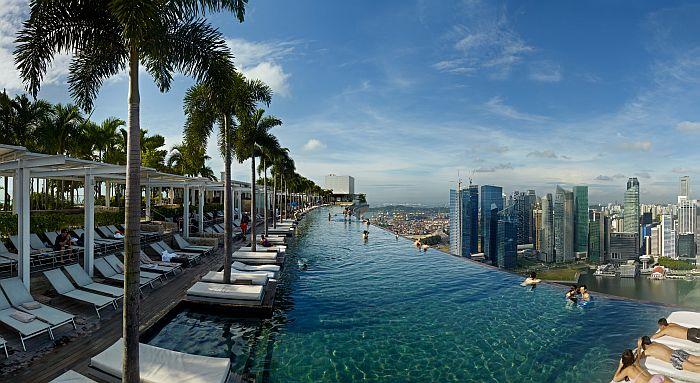 Hotel Marina Bay Sands Singapur - Pool auf dem Dach