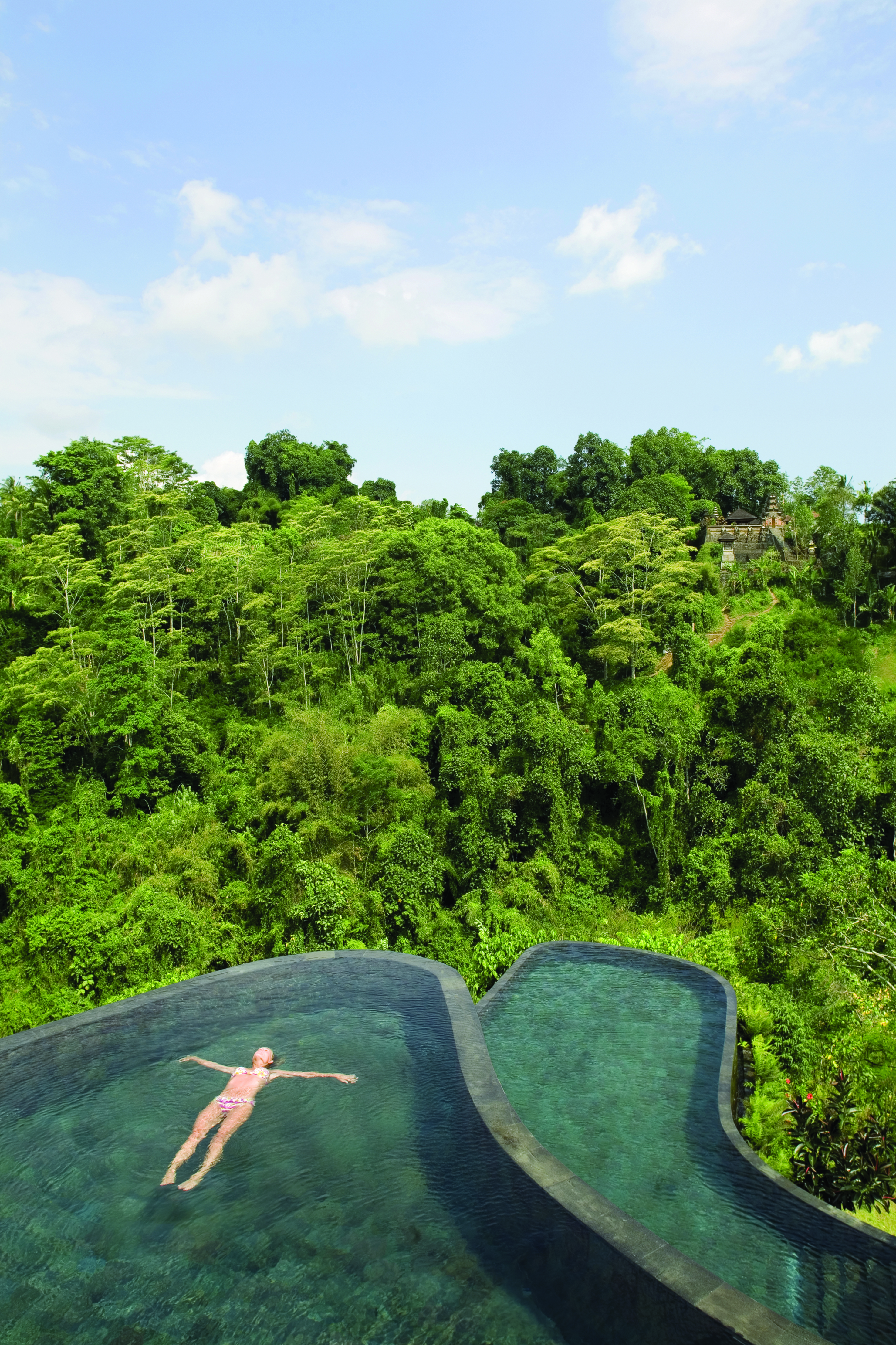 Hotel Ubud Hanging Gardens - Ubud, Indonesien - Panorama Pool