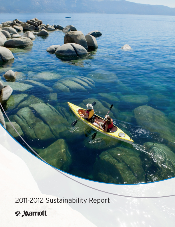 Marriott International 2011-2012 Sustainability Report - Cover