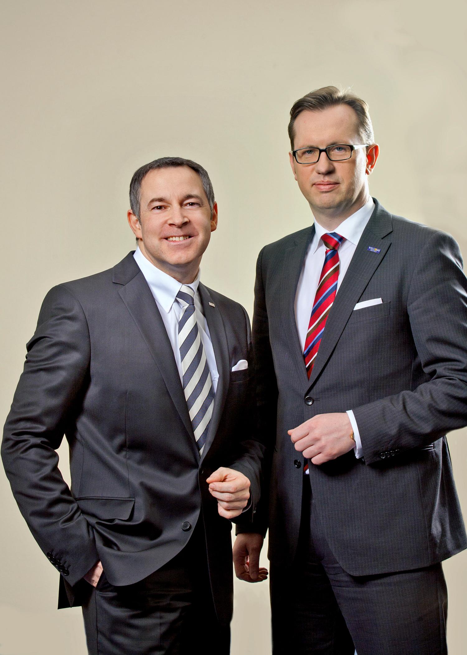 Dream Team im Topmanagement: Mario Pick (links) und Carsten Kritz bringen die Welcome-Hotels mächtig nach vorne