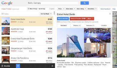 Google Hotelfinder: Start in Deutschland steht offenbar unmittelbar bevor