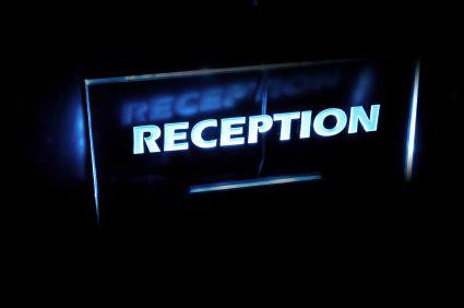 Reception Leuchtschild