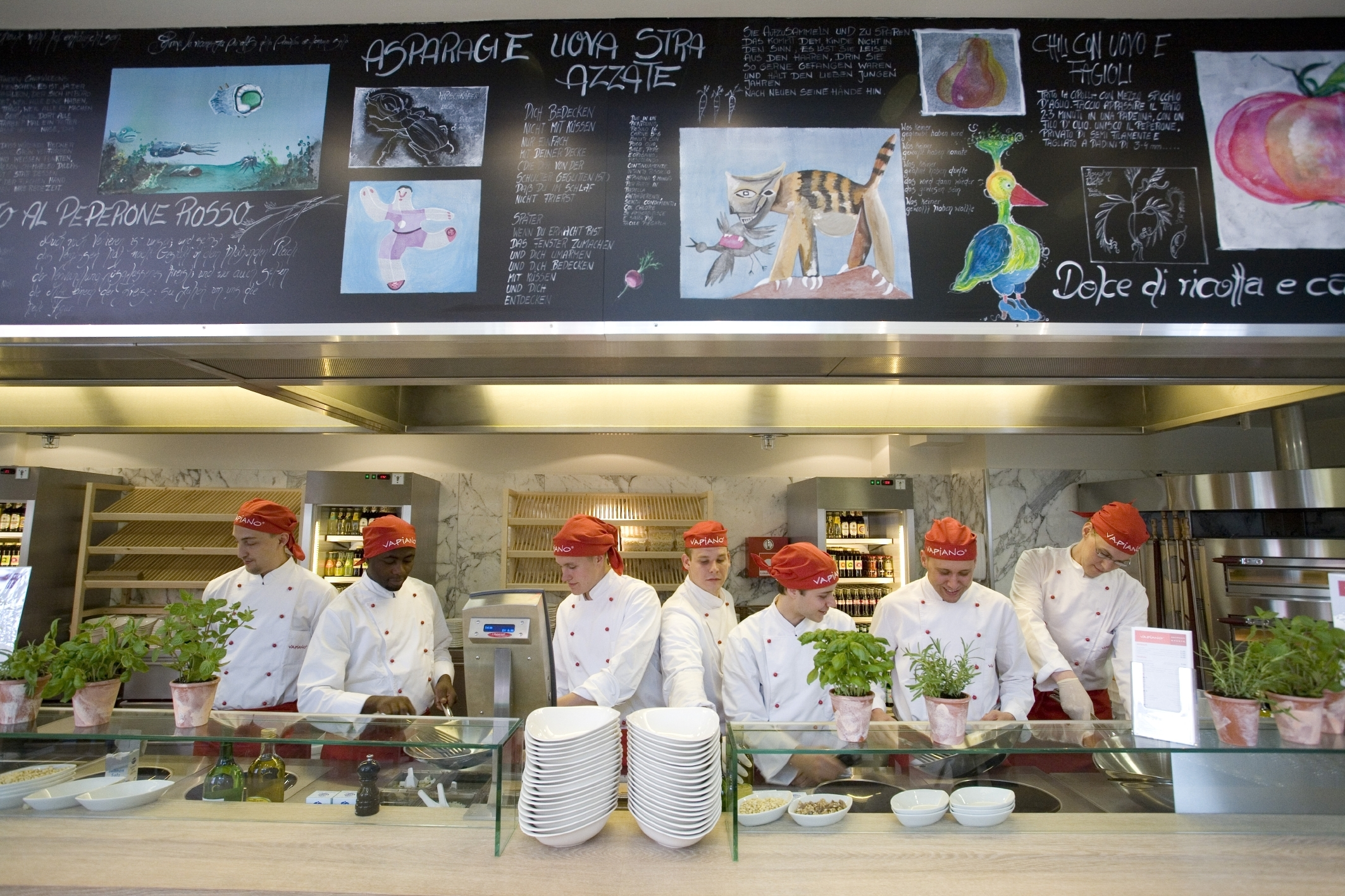 Front Cooking ist bei Vapiano Standard