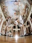 Basketball im Rittersaal: Hochschulsportler auf dem Campus der Uni Mannheim im Schloss