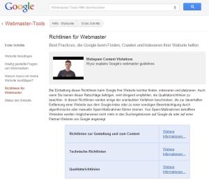 Google - Richtlinien für Webmaster