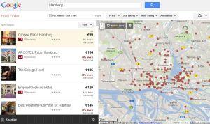 Google Hotelfinder - Hotelsuche Hamburg - 30.11.2012