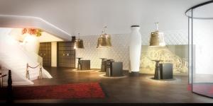 Lobby im Hotelbau-Projekt Kameha Grand Zürich: Eröffnung ist im Frühling 2015
