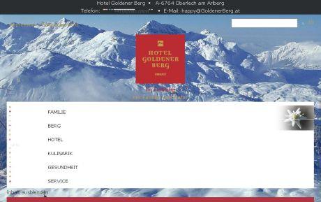 "Google-optimiert durch ""responsive Webdesign"": Neue Website vom Hotel Goldener Berg in Lech"