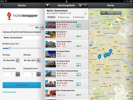 Neue App: Hotelsnapper vergleicht die Preise von 300.000 Hotels weltweit