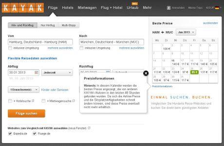 Flugsuche mit kayak.com nun mit Preisprognose: Steigen oder fallen die Ticketpreise?