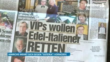 """Weiter Zoff um drohenden Abriss: Angebot für Edel-Italiener """"Osteria Due"""" in Hamburg - Aktuelle Reports bei HOTELIER TV"""