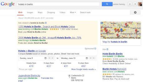 Google - Hotels in Berlin