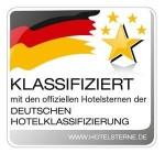Klassifiziert mit den offiziellen Hotelsternen der Deutschen Hotelklassifizierung