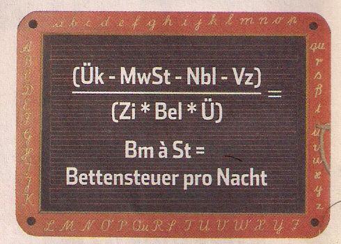 Bettensteuer-Formel