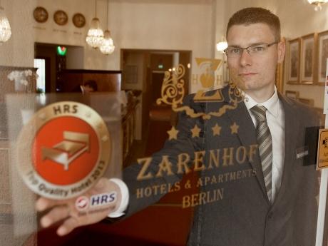 Hotel Zarenhof Berlin mit HRS-Qualitätssiegel ausgestattet