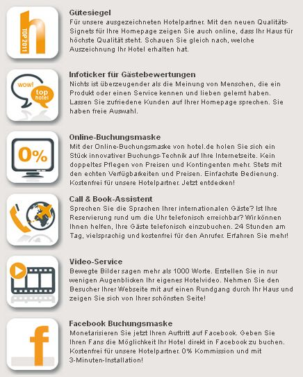 hotel.de Widgets für Hotel-Websites