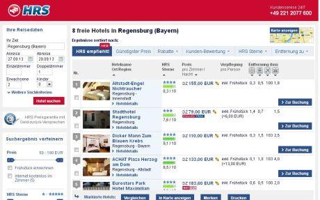 Trotz der Protestaktion bleiben einige Hotels in Regfensburg bei hrs.de buchbar