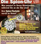 Spion Uhr fürs Hotel
