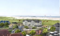 """Das neue Strandhotel """"Zweite Heimat"""" eröffnet im April 2014 in St. Peter-Ording."""
