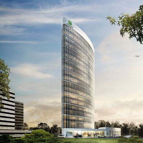 Zweites Holiday Inn für Hamburg: Der 18-stückige Neubau in der City Nord umfasst 297 Zimmer