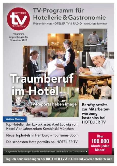 HOTEL TV PROGRAMM November 2013 - Cover