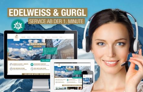 Hotel Edelweiss & Gurgl in Obergurgl: High-Class-Service jetzt auch online per Video-Chat