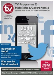 HOTEL TV PROGRAMM Dezember 2013 - Cover