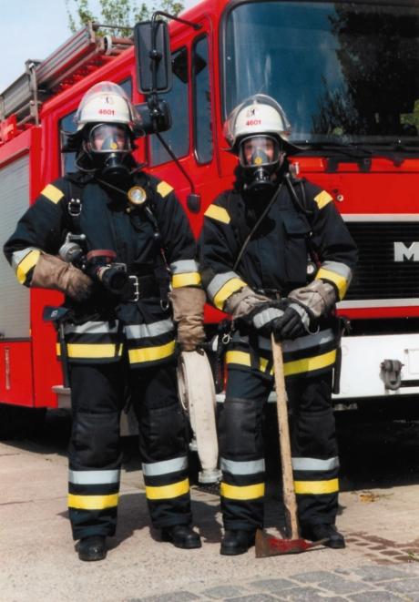 Feuerwehr in Atemschutz