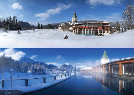 Schloss Elmau - Badehaus im Winter