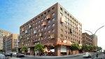 So soll das neue Hotel- und Kino-Gebäude am Sandtorkai in der Hafencity aussehen - Bunte Glaswürfel schmücken die Backsteinfassade (Entwurf: Nalbach + Nalbach Gesellschaft von Architekten mbH)