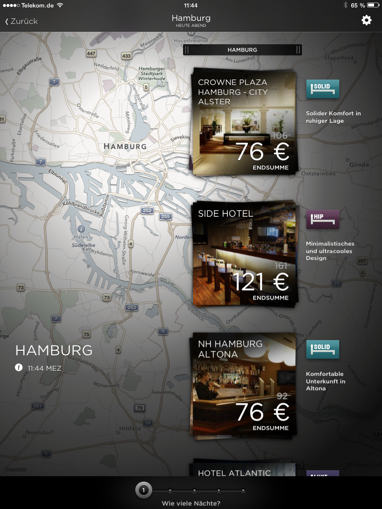 Hotel Tonight: Hotels in Hamburg