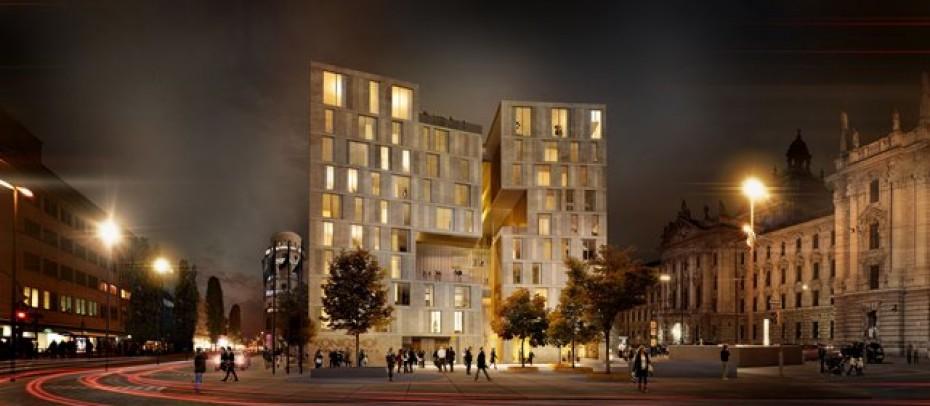 Entwurf für den neuen Königshof in München - Wiedereröffnung soll 2019 sein