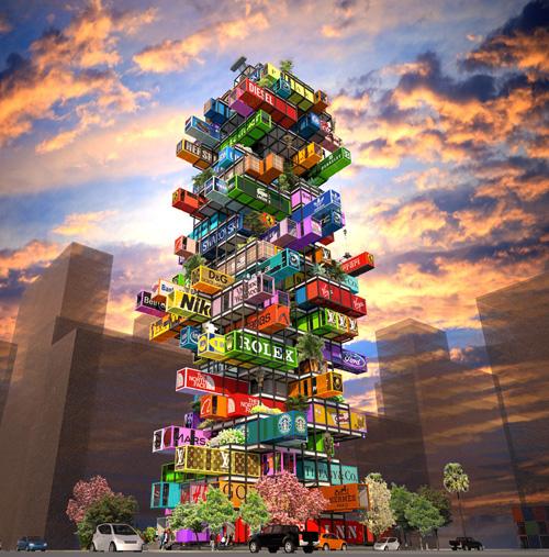 """""""Hotelzimmer to go"""": Innovatives Hotelbau-Konzept aus Container von Ova Studio bleibt nur  eine Vision – es setzte sich bei einem Architekturwettbewerb nicht durch"""