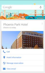Hotel der Zukunft - Google Now