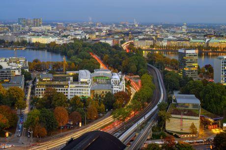 Radisson Blu Hotel Hamburg - Ausblick von der neuen Dachterrasse