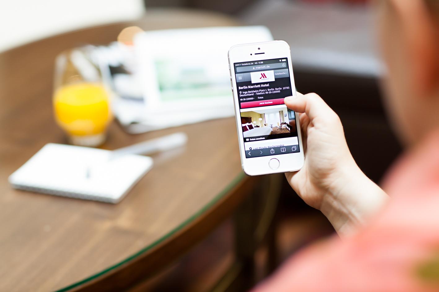 Marriott Hotel Berlin: Check-in per Smartphone