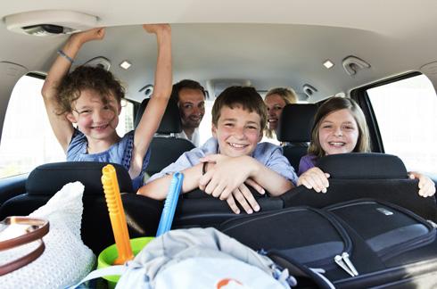 Familie Auto Reise Urlaub Ferien