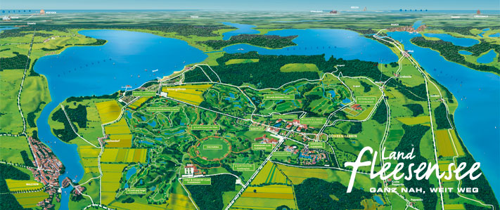 Land Fleesensee - Karte