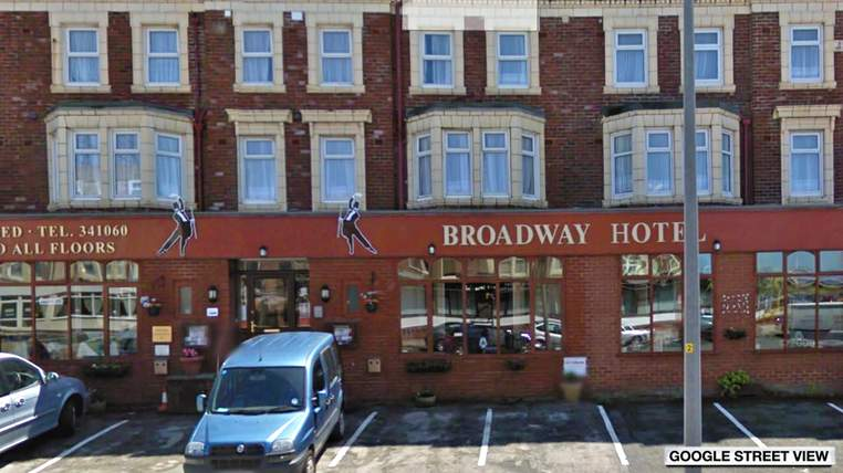 Weltweit durch Geldtrafe für schlechte Hotelbewertung bekannt geworden: Hotel Broadway in Blackpool/UK